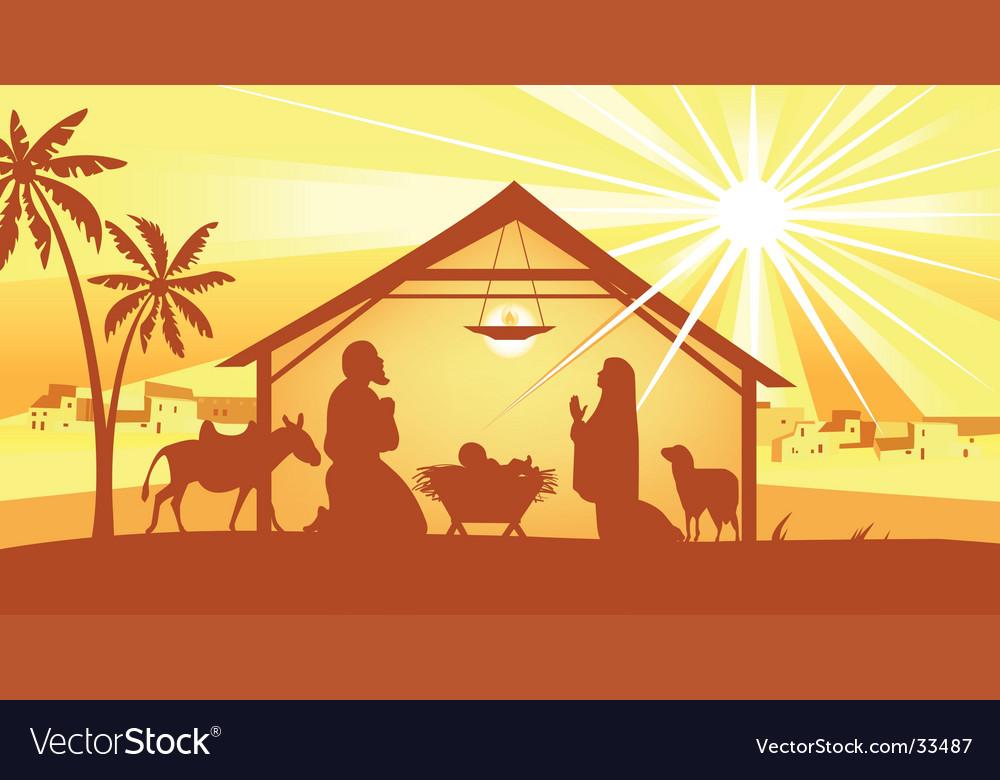 Holy night way to bethlehem