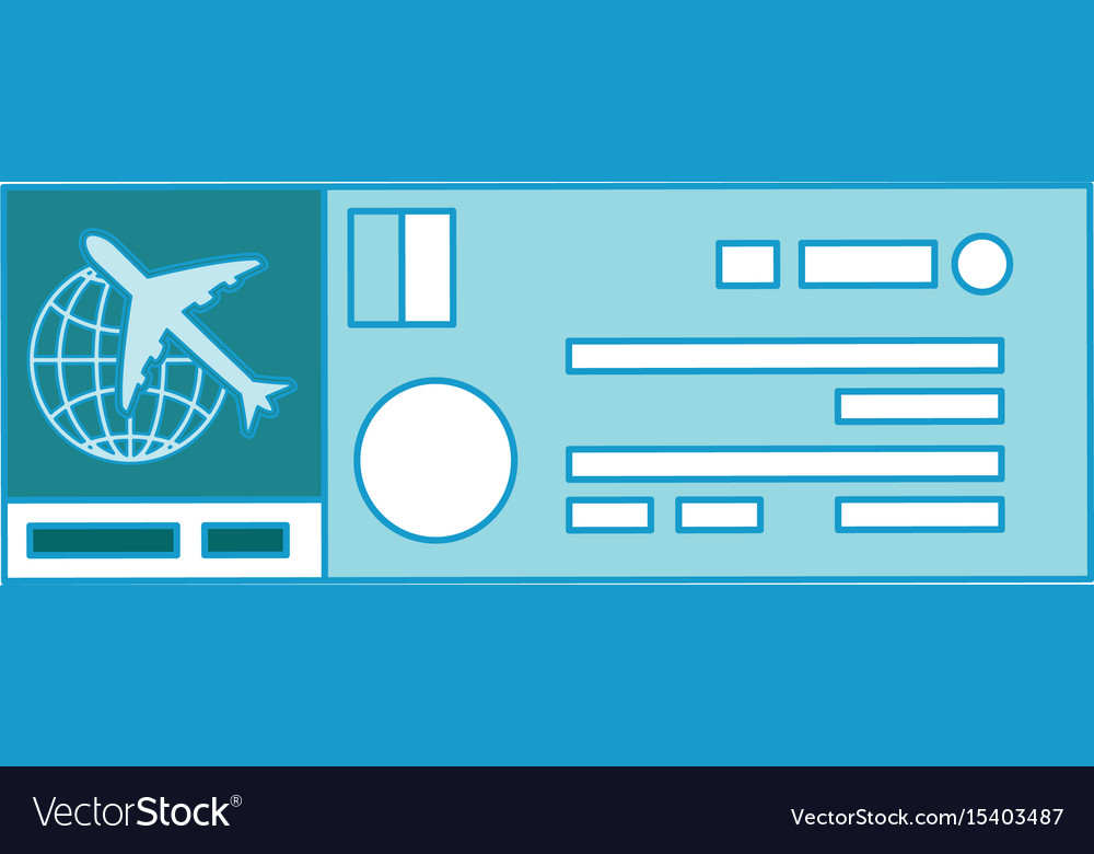 Isolated airplane ticket vector image