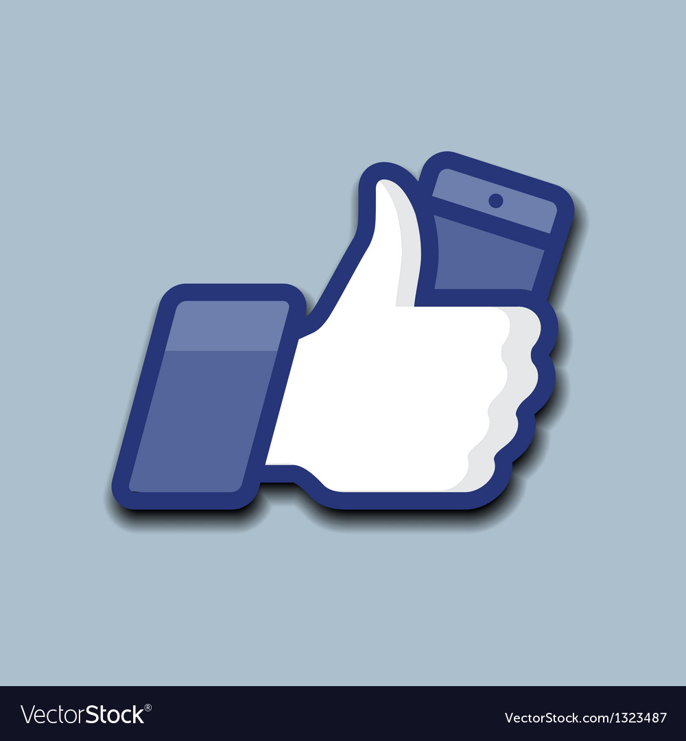 LikeThumbs Up symbol icon with mobile phone