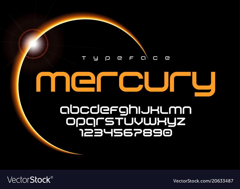 Mercury futuristic minimalist font design