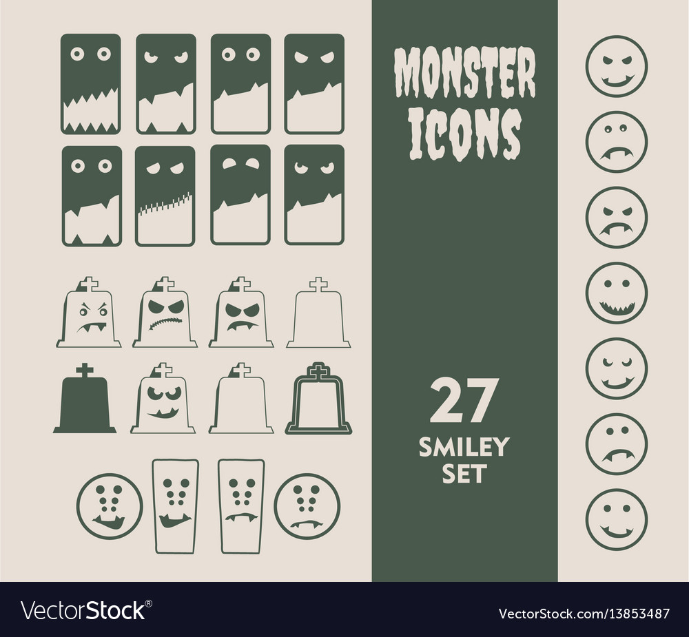 Set of icons for halloween party