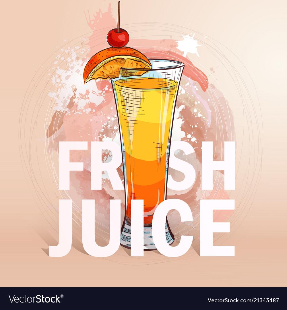 Summer fresh juice cocktail