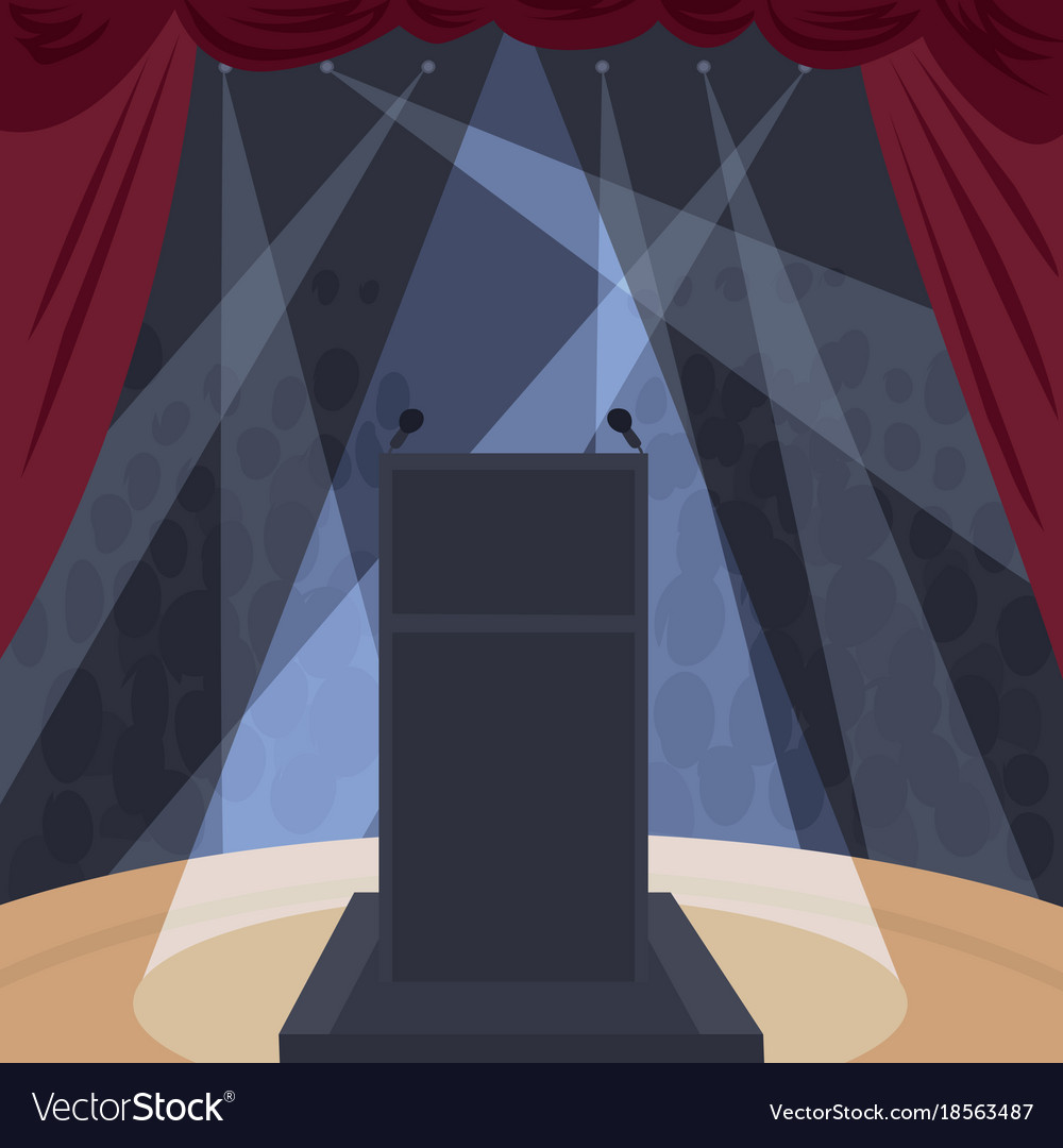 View from stage of theater or concert hall vector image