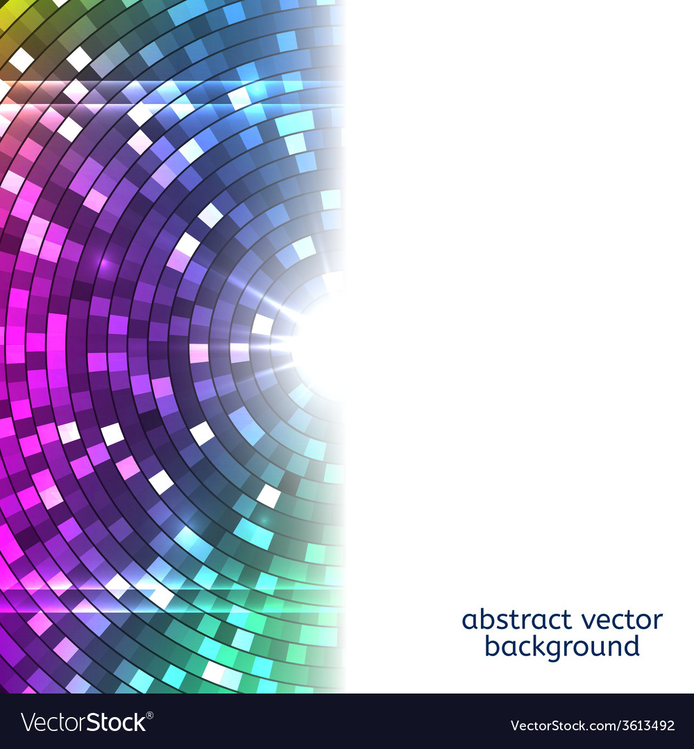 Abstract colorful disco lights background