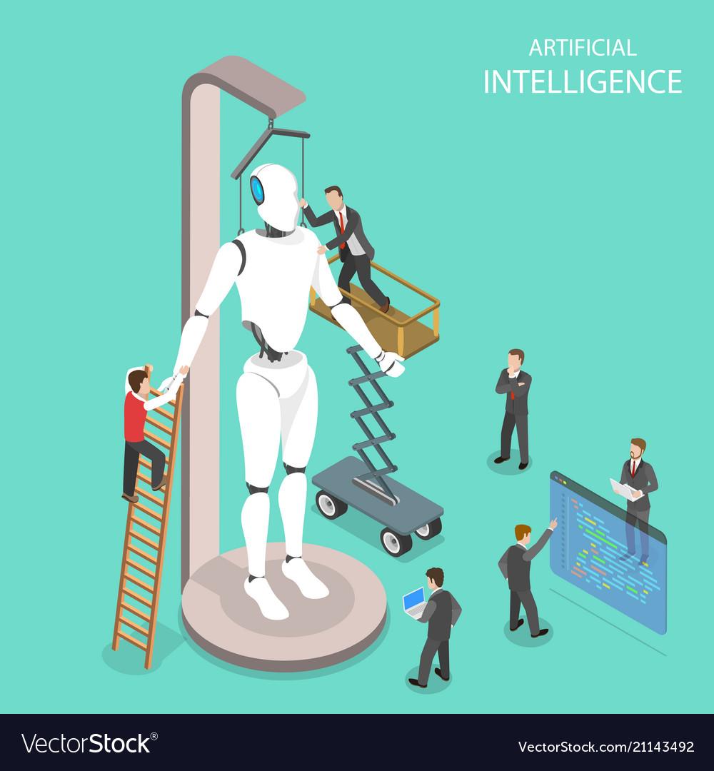 Artificial intelligence flat isometric