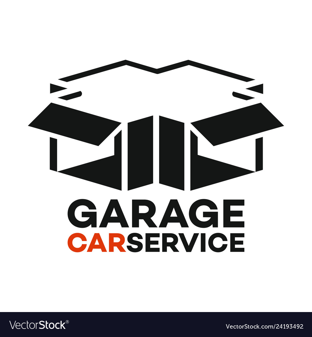 Garage and wrench logo