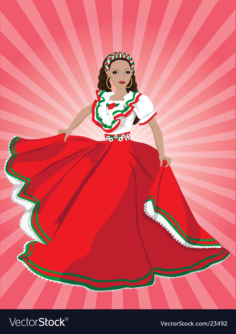 Mexican dancer vector image