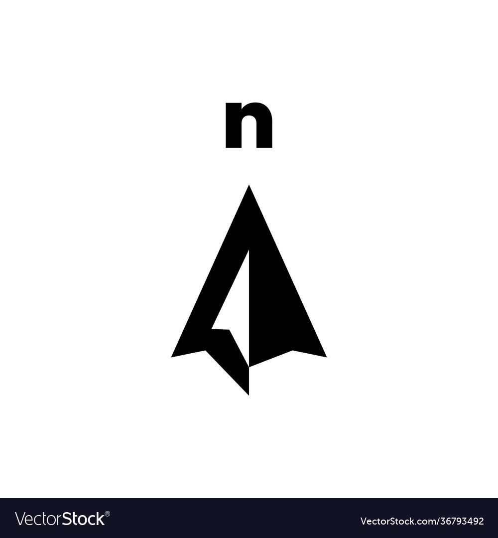 North arrow compass logo icon
