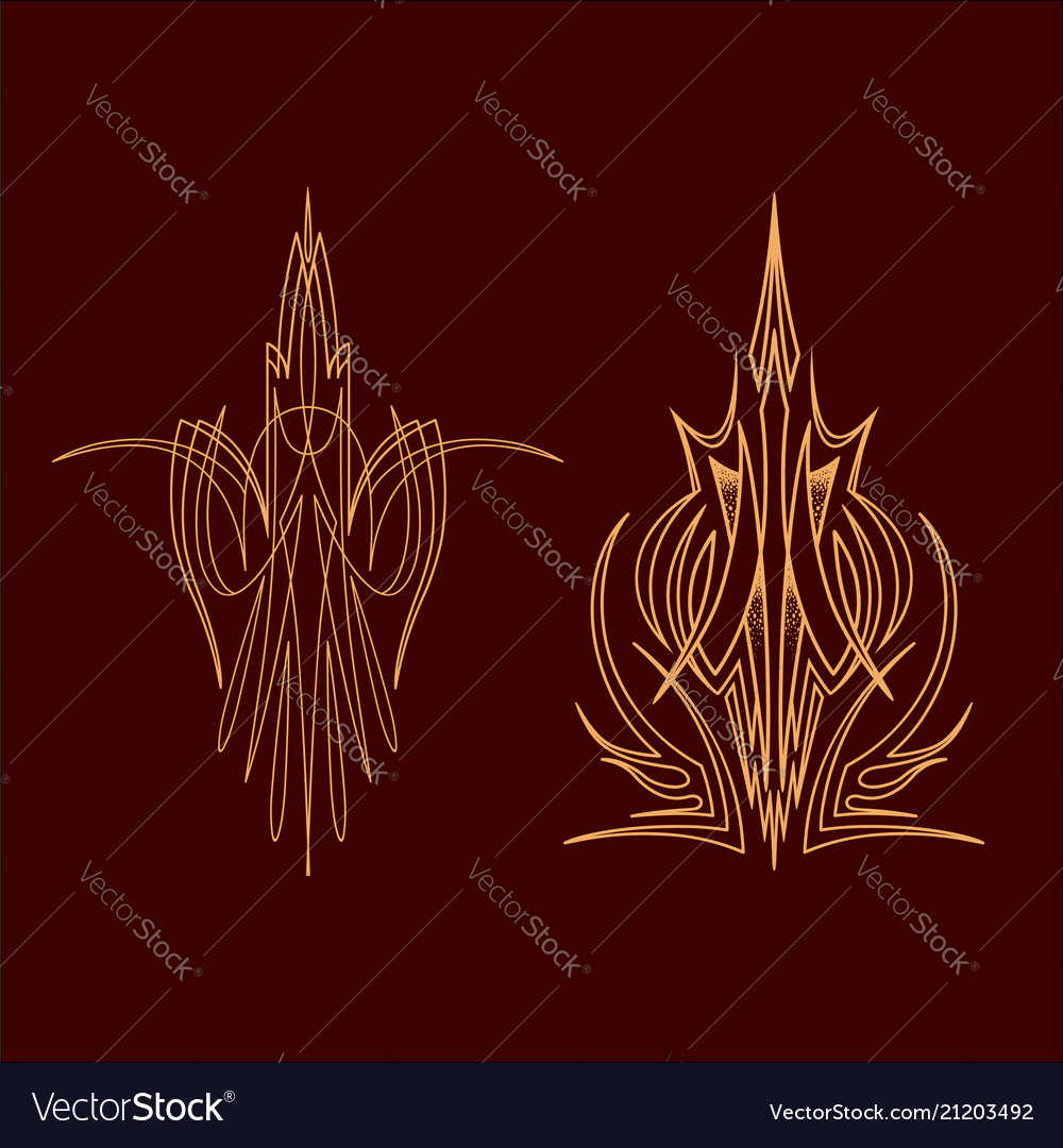 Pinstriping vehicle graphic decorative vinyl vector image on VectorStock