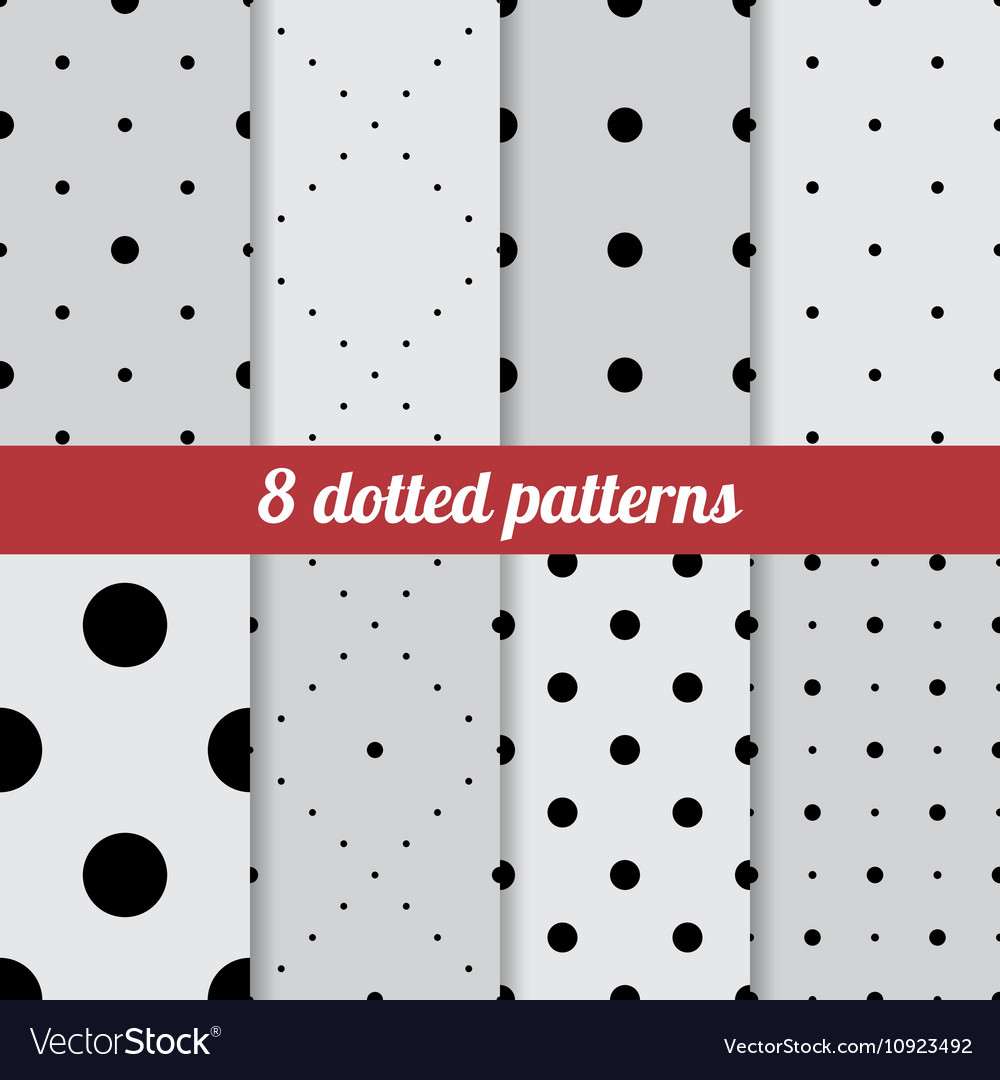 Set of dotted patterns