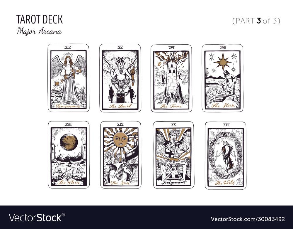 Tarot card deck major arcana set part 13