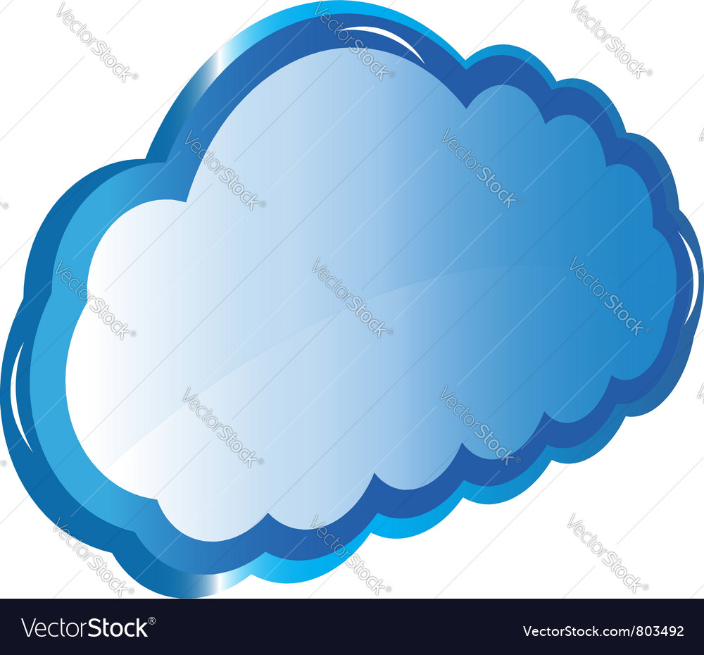 Web Cloud storage vector image