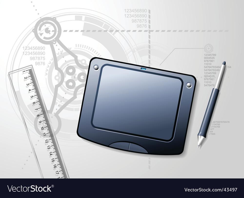 Designer's desktop vector image