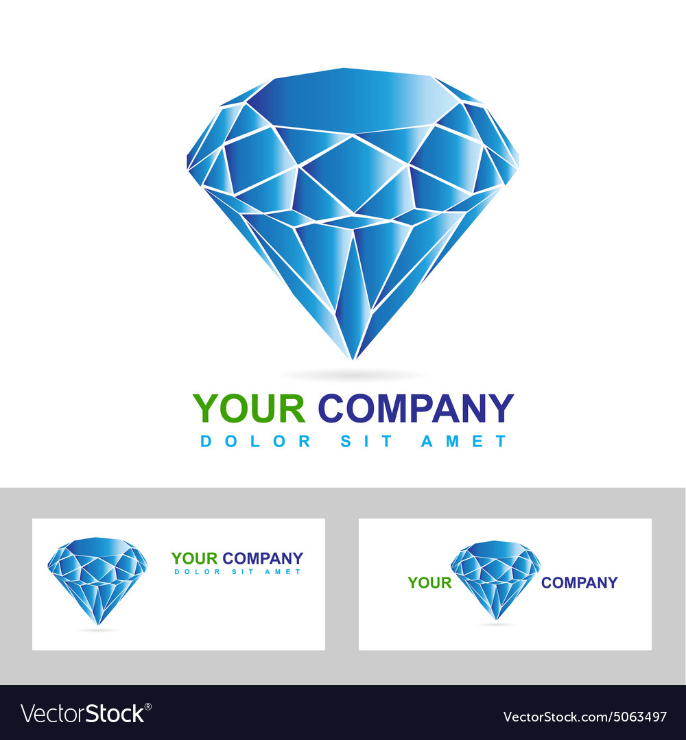 Diamond or jewelry business logo vector image