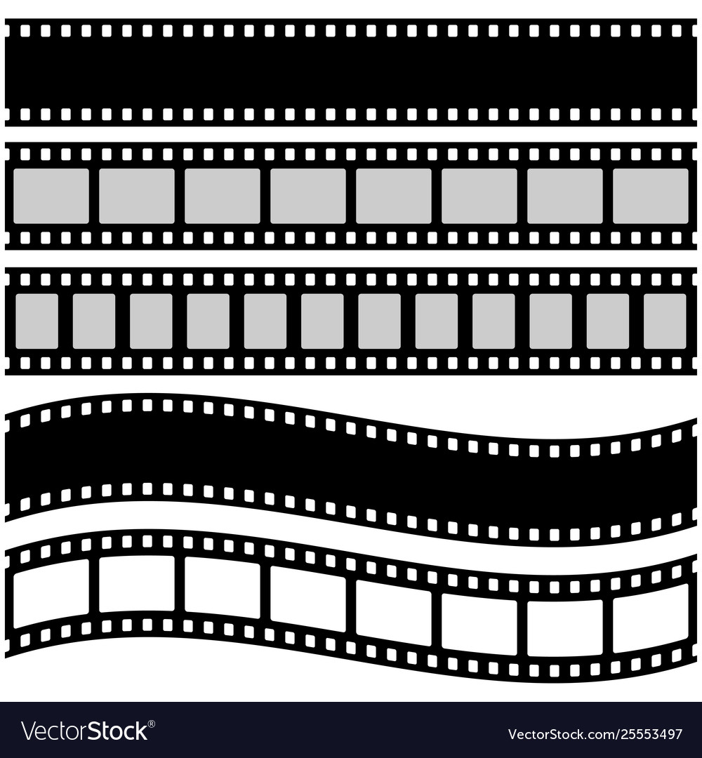 Film strip in flat style
