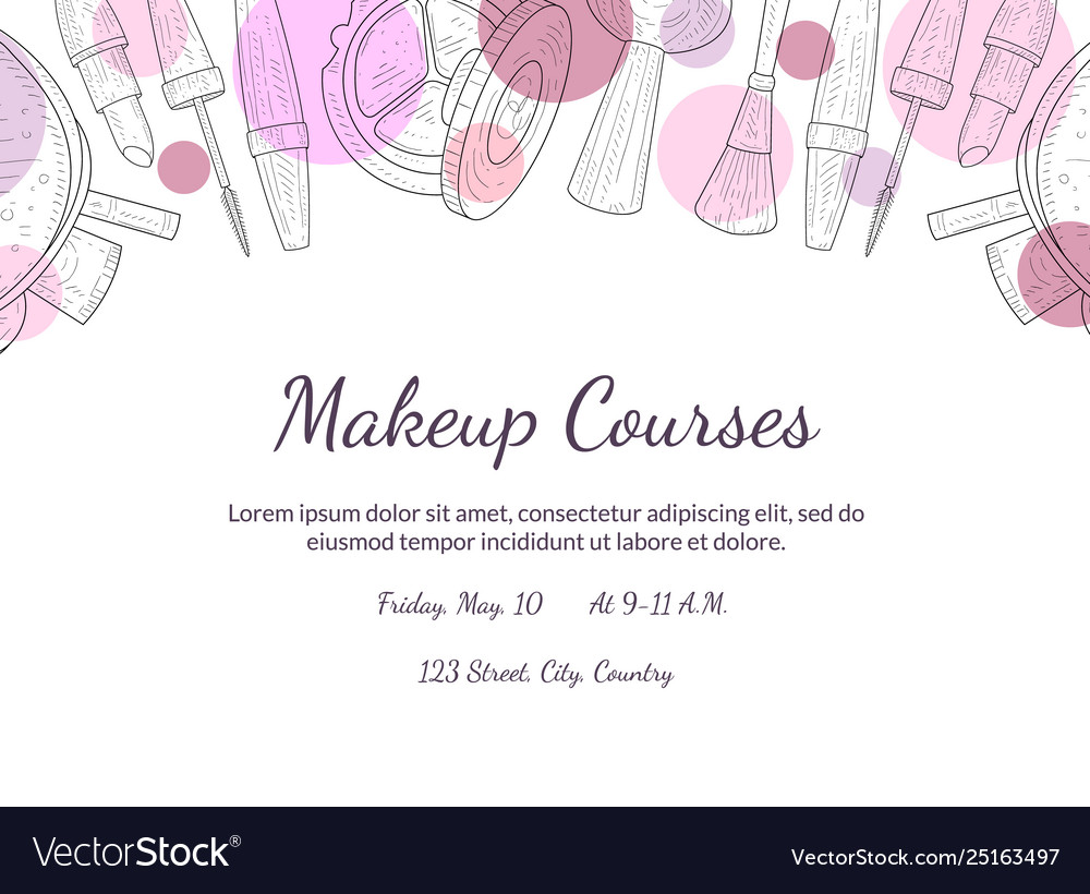 Makeup Courses Banner Template With