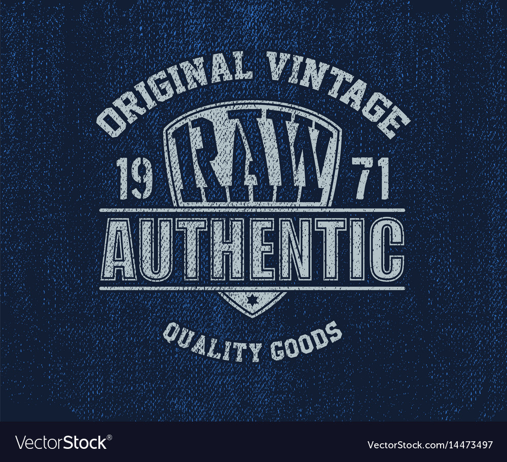 Original vintage denim print for t-shirt