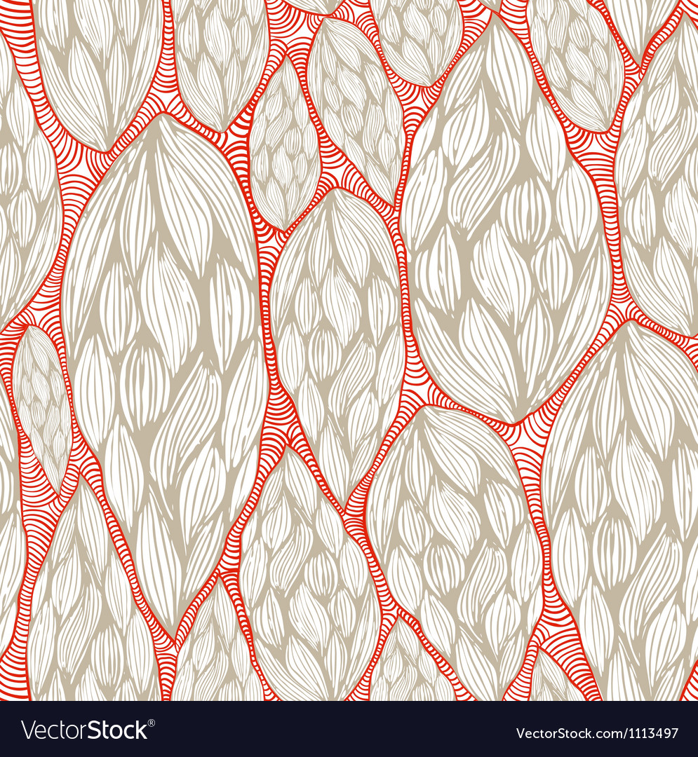 Seamless wave pattern with transperent background vector image