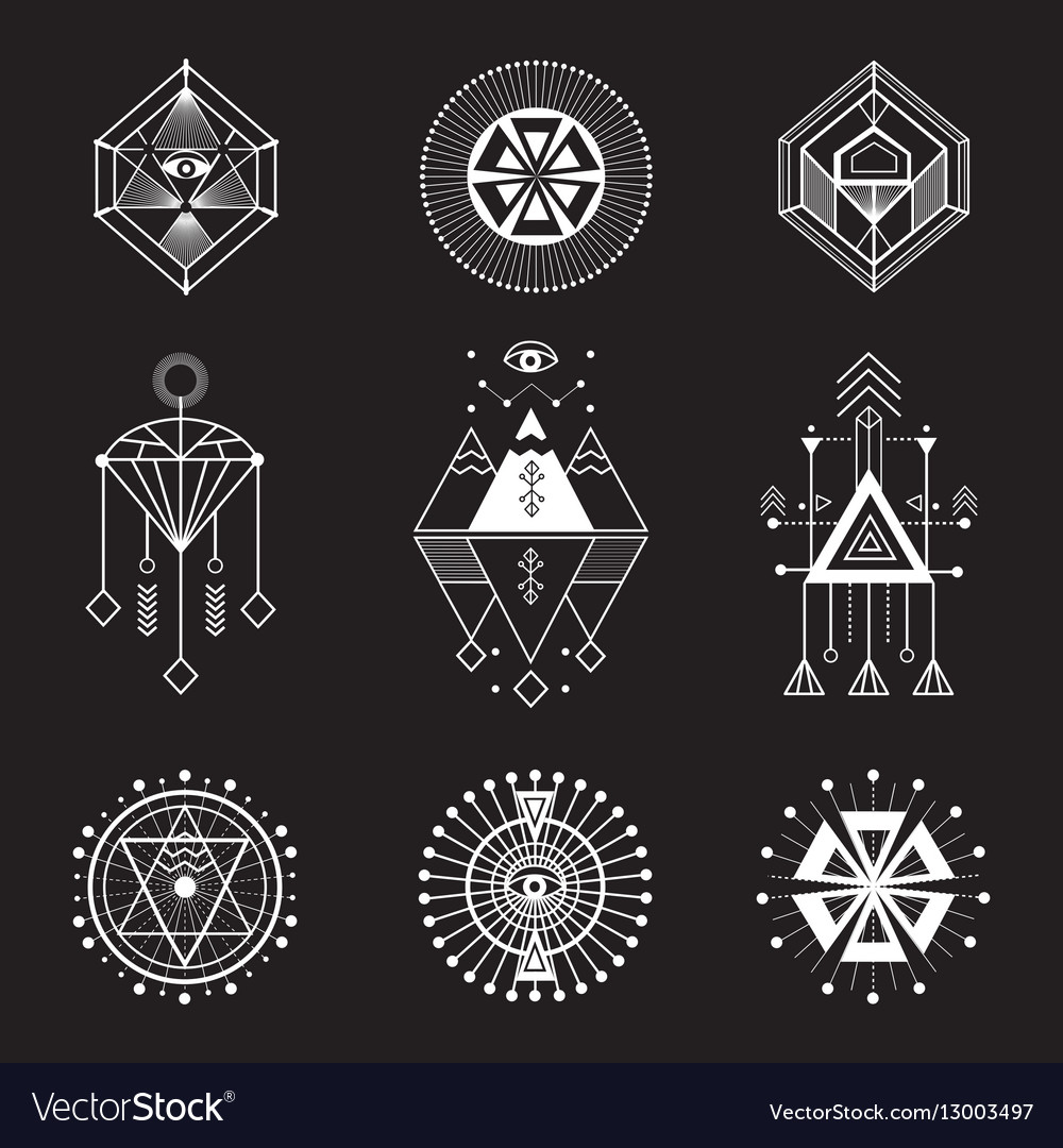 weightlifting stock images royalty free images vectors set of sacred geometry royalty free vector image
