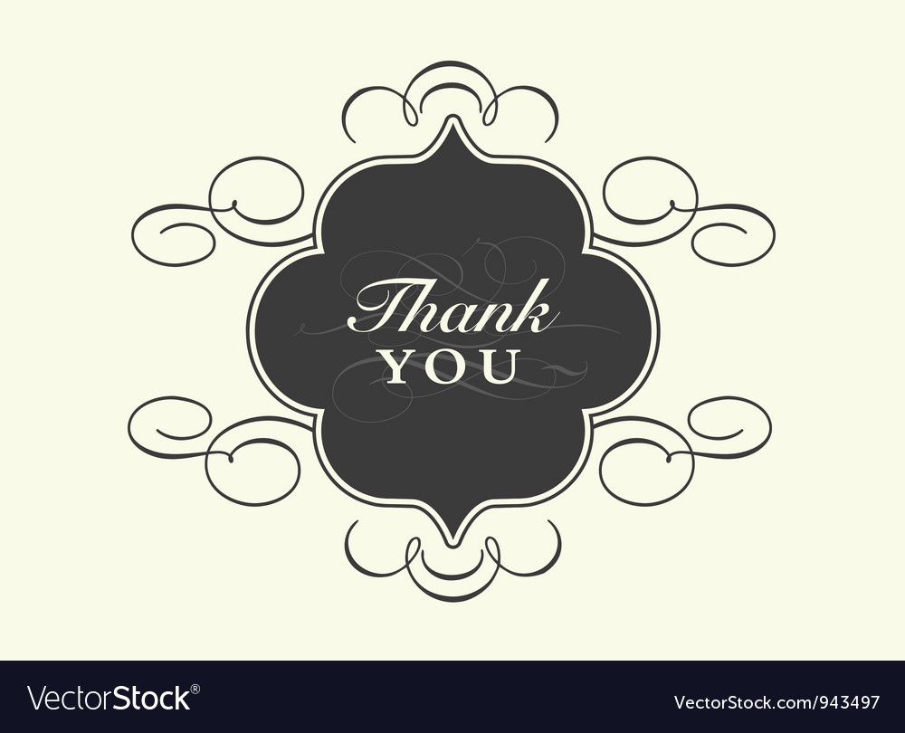 thank you card templates royalty free vector image