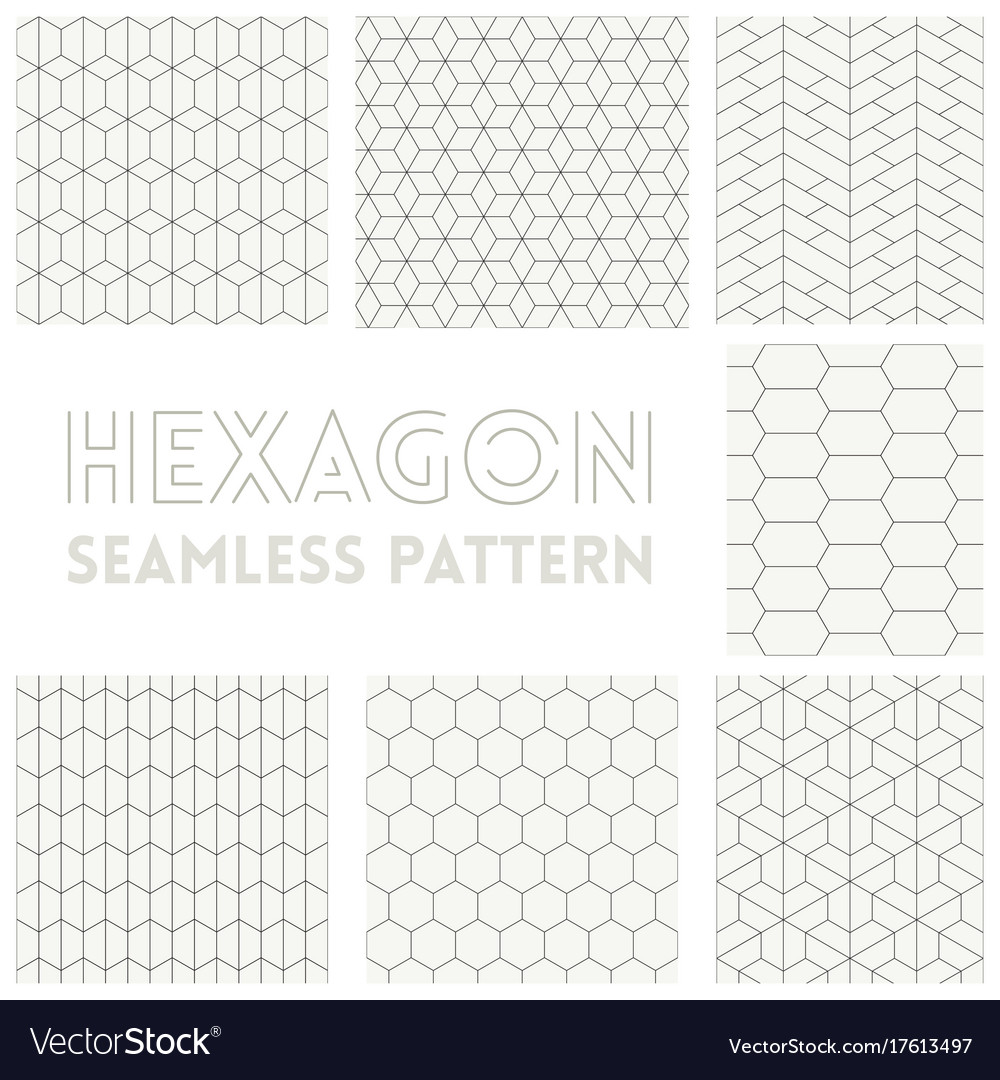 Thin line of hexagon vector image