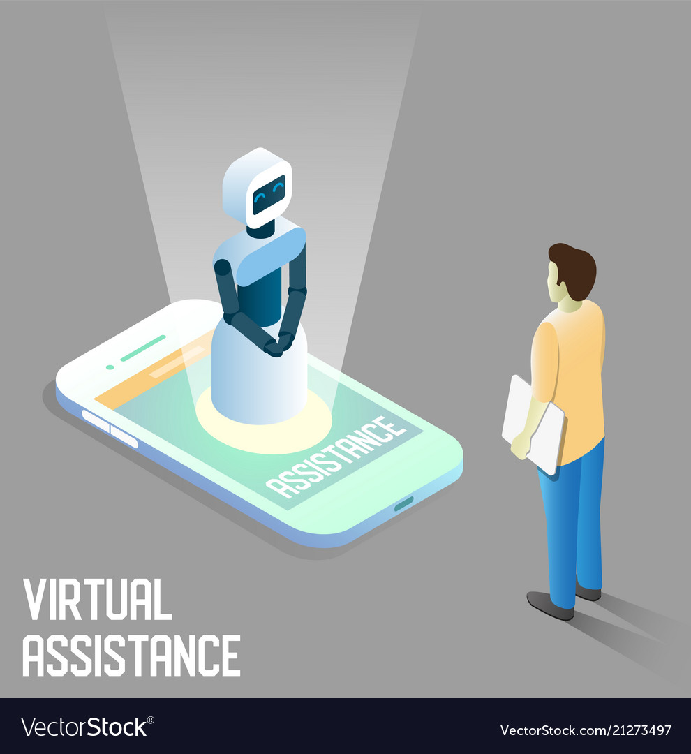 Virtual assistance isometric