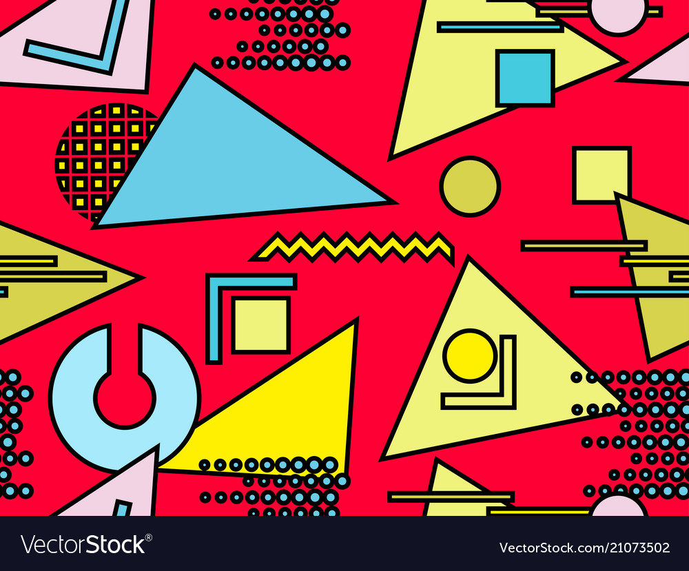 Bauhaus seamless pattern geometric elements
