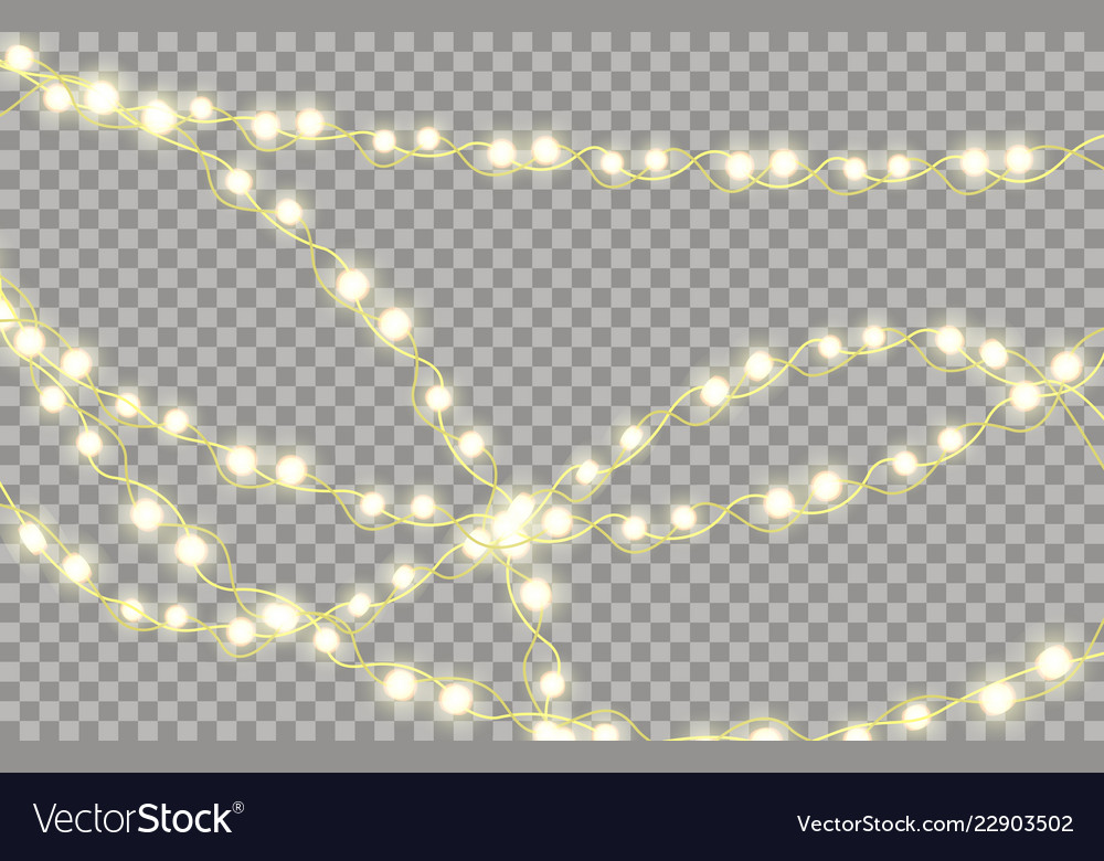 Colorful glowing garland for new years and