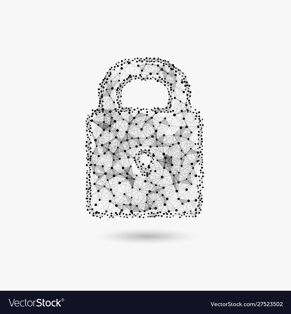 Concept cyber security lock made of