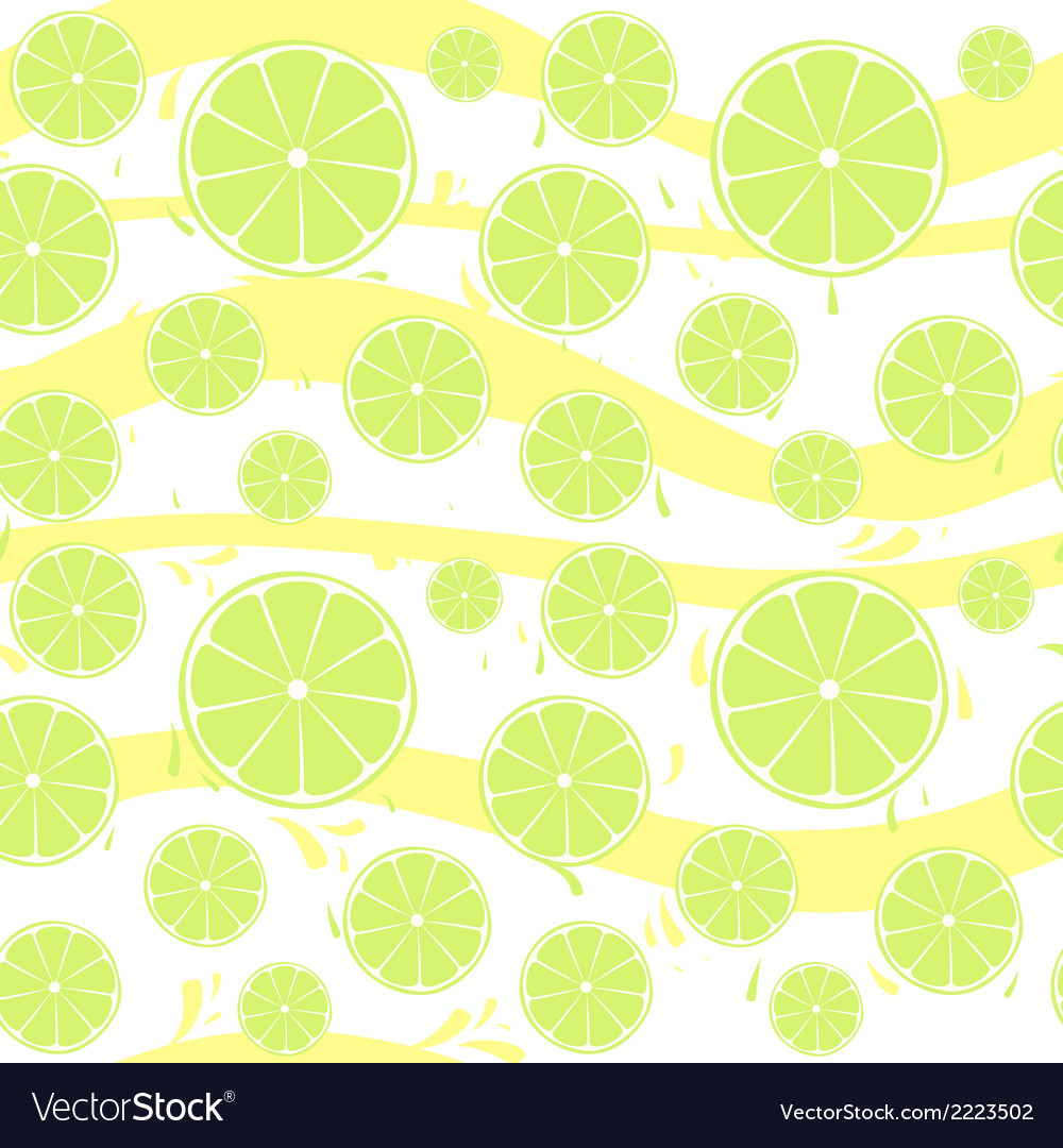 Lime slices seamless pattern splash