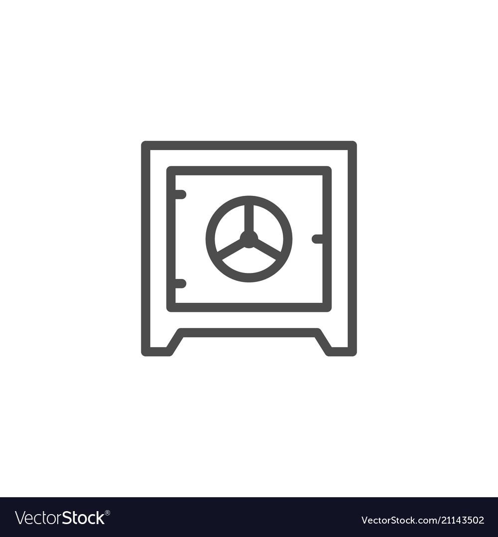 Safe line icon
