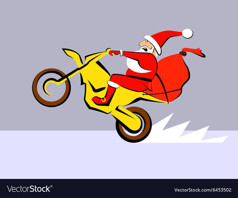 Santa Claus ride motorcycle