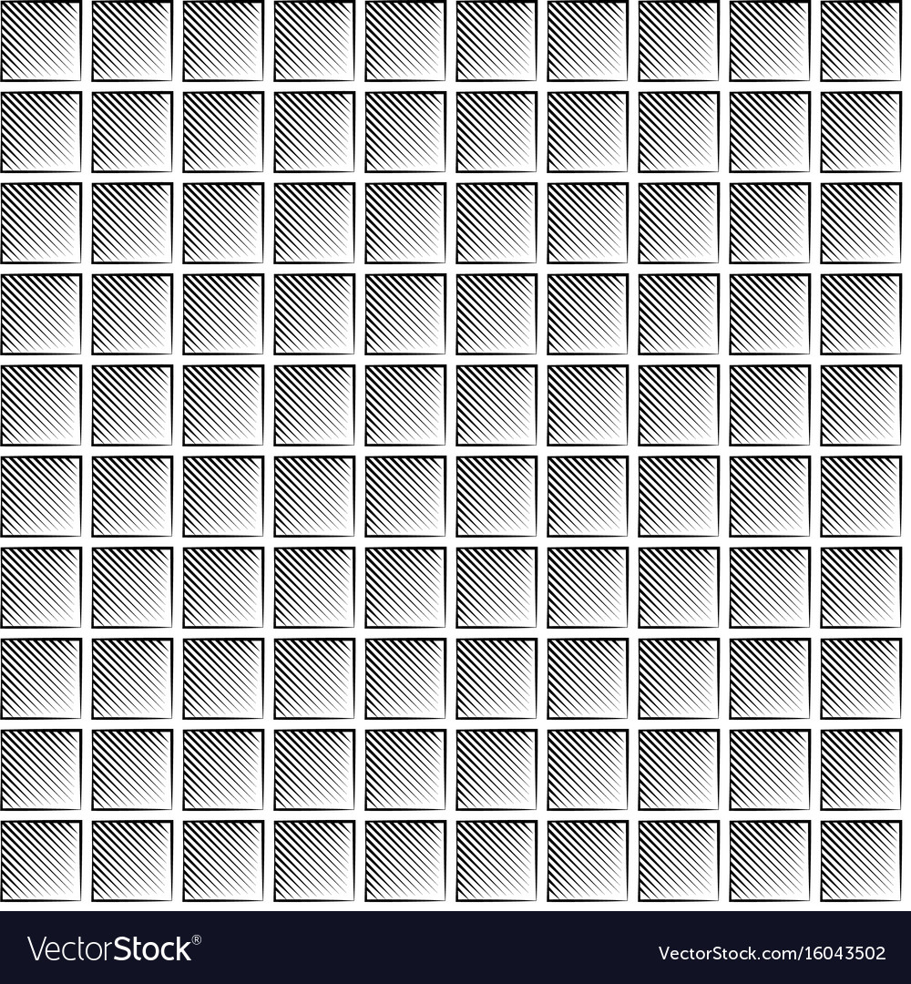 Seamless waffle graphic pattern - black and white vector image
