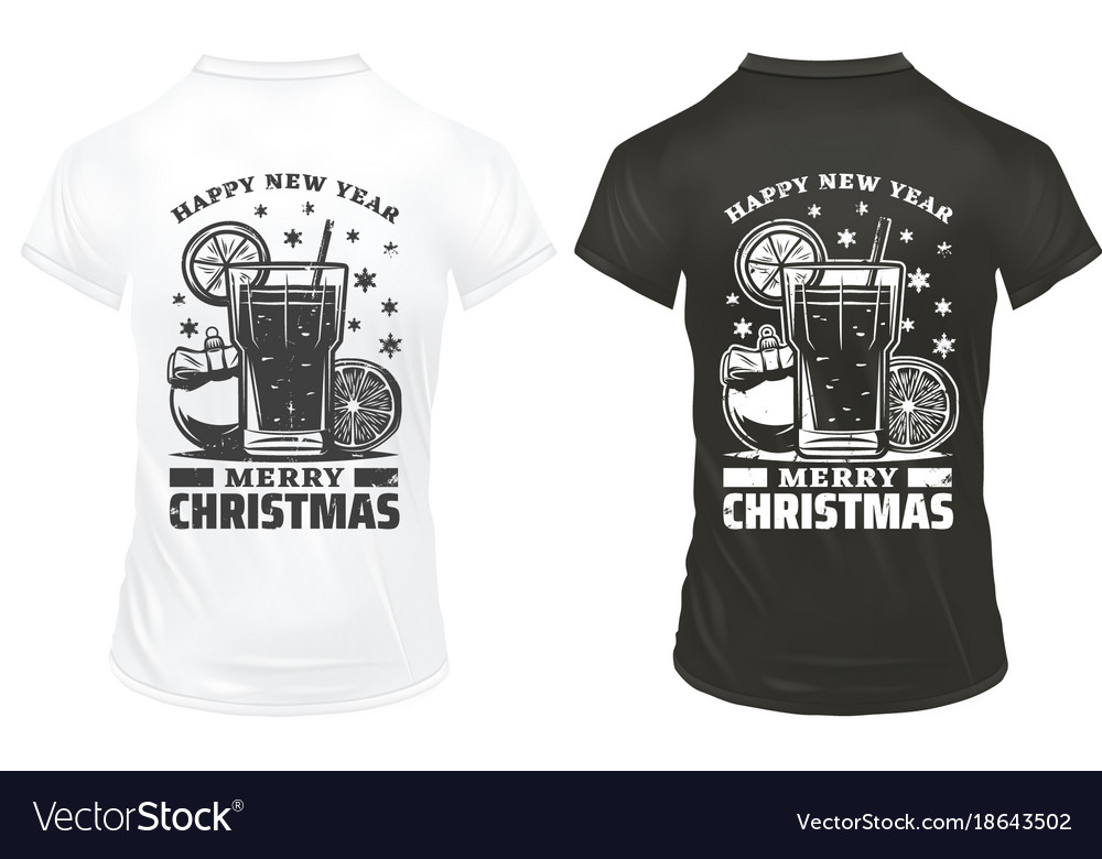 Vintage christmas holiday prints template
