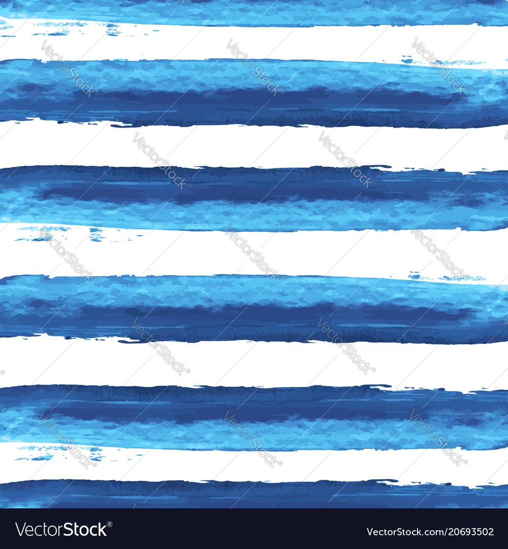 Watercolor blue stripes background
