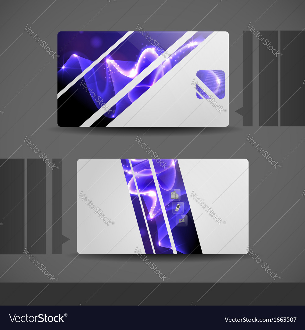 Blue modern business card royalty free vector image blue modern business card vector image reheart Images