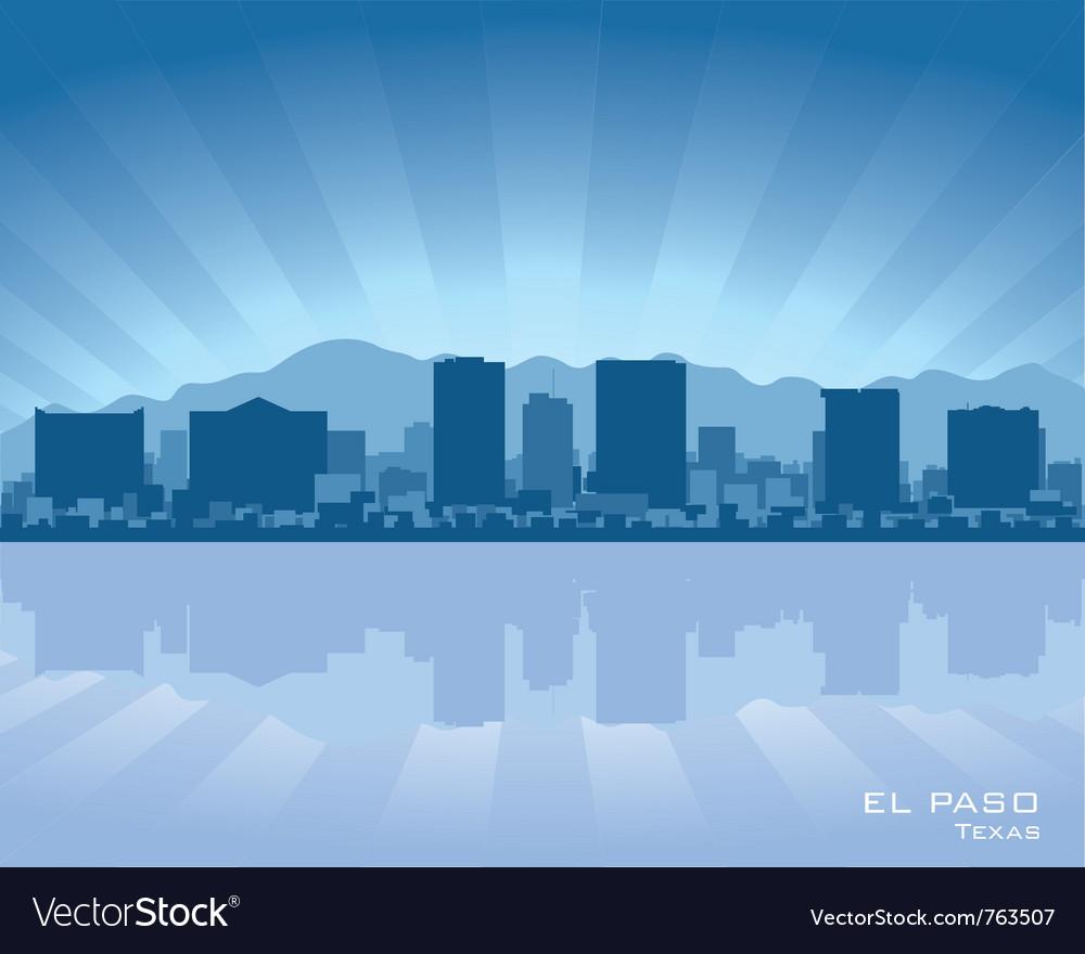 El Paso Texas Skyline Royalty Free Vector Image