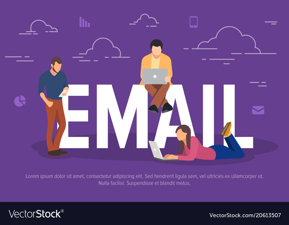 Email concept business people