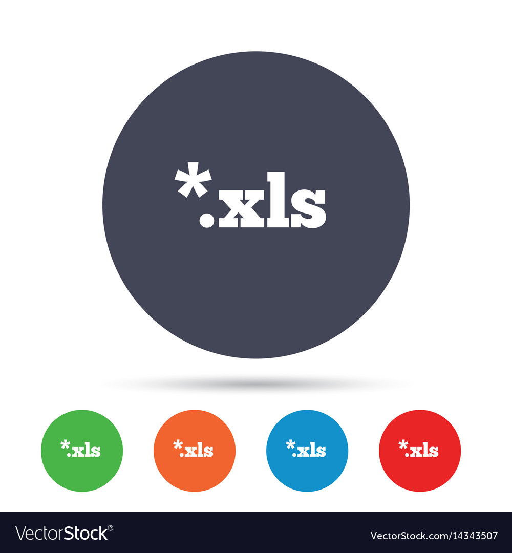 Excel file document icon download xls button vector image