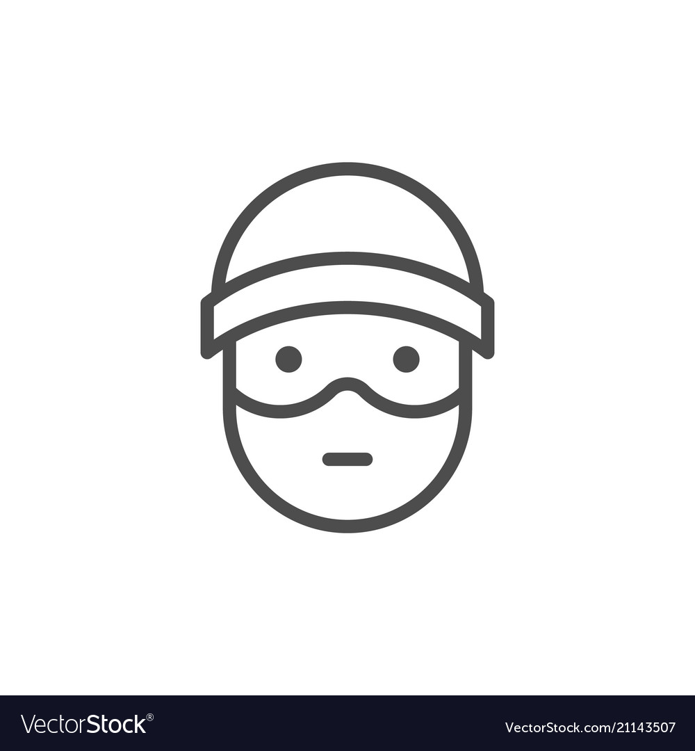 Robber line icon