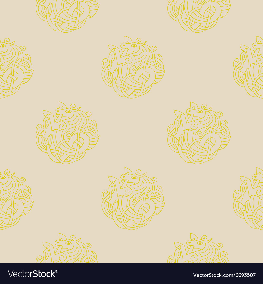 Seamless background with Celtic art