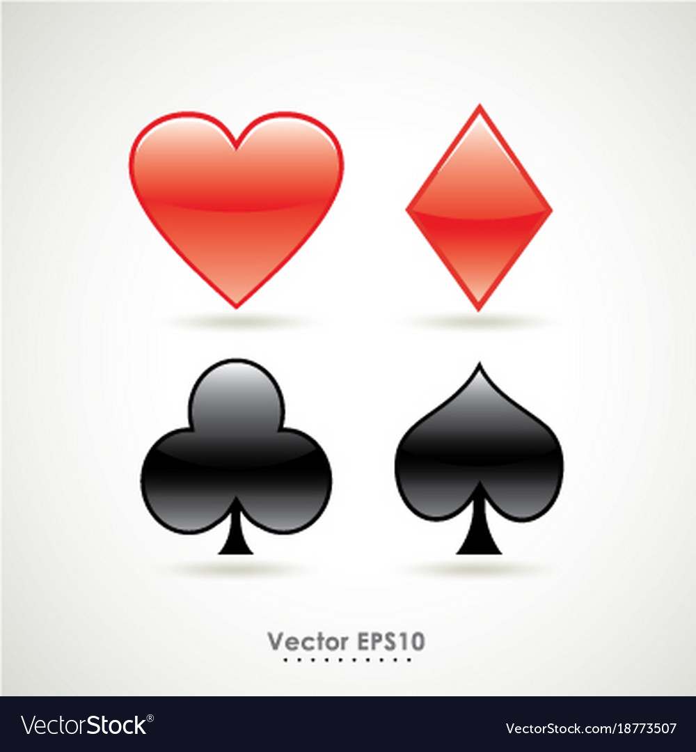 Symbols of playing poker card sign