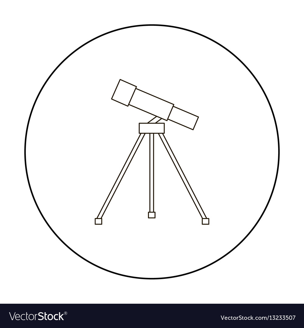 Telescope icon outline single education icon from