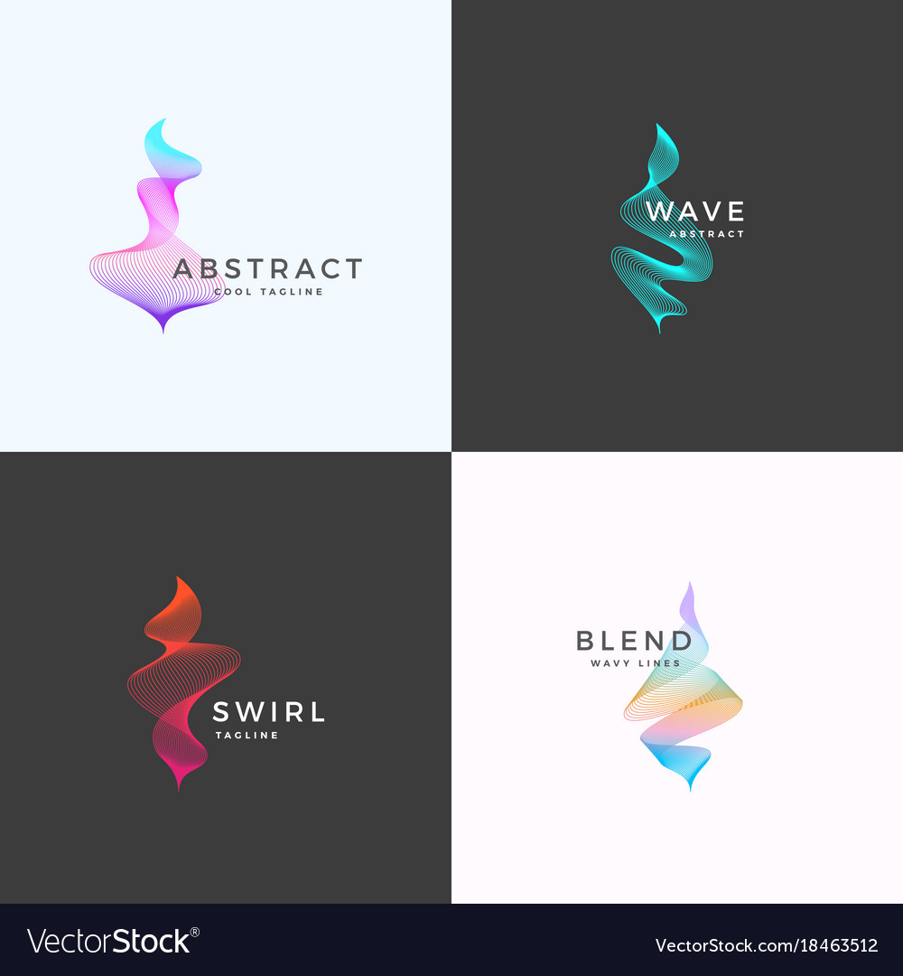 Abstract blend wavy symbol sign or logo