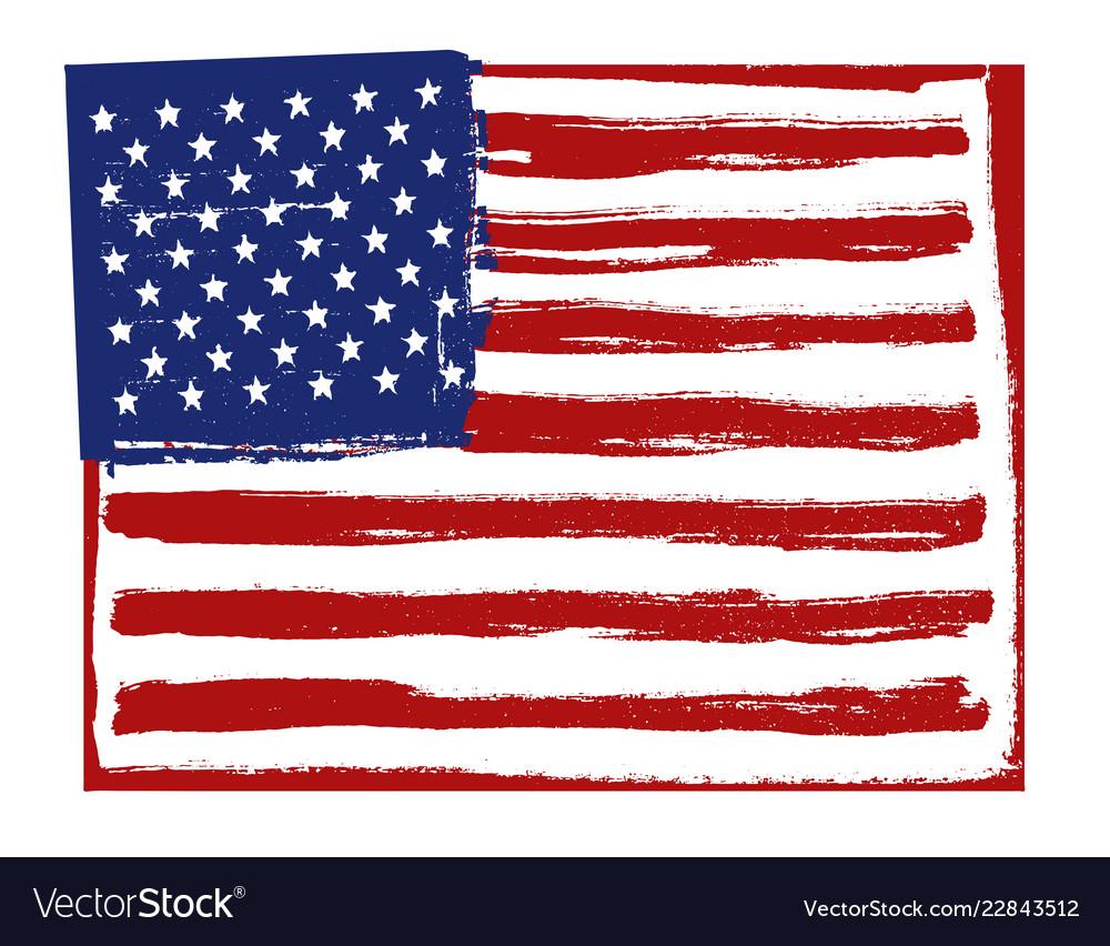 American flag background horizontal orientation