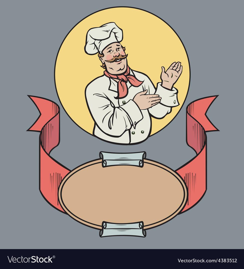 Chef in retro style