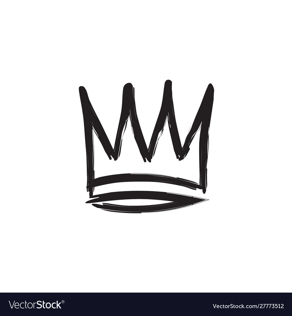 Crown hand drawn style