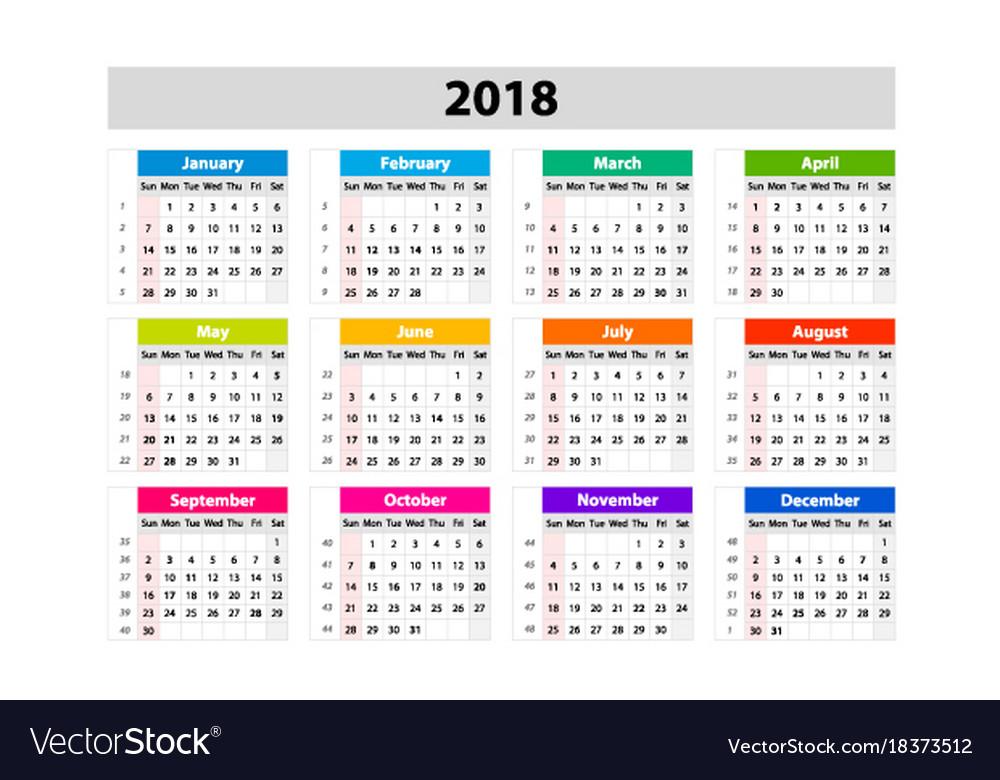 Year Calendar Desk : Desk calendar for year design print template vector image