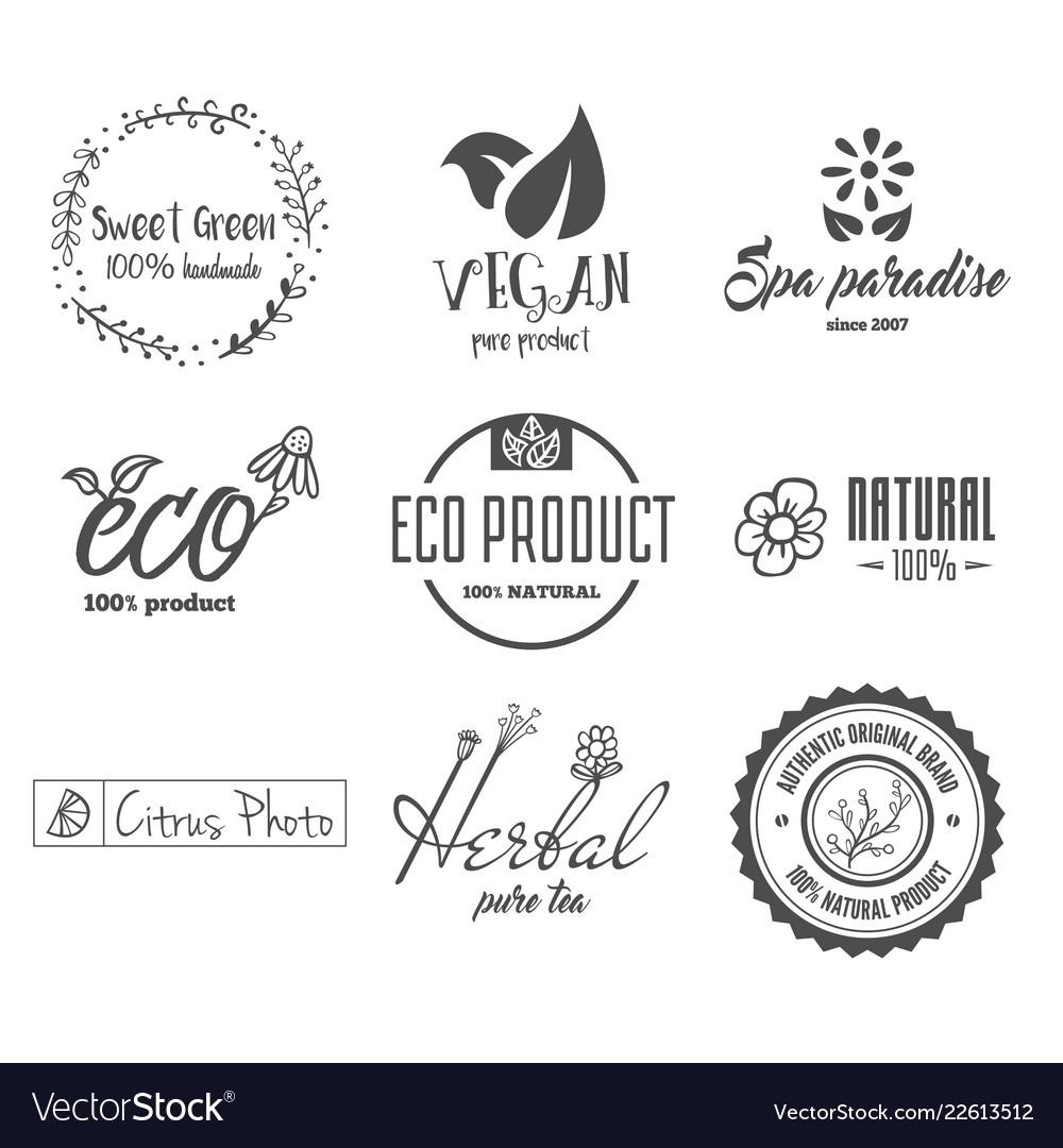 Eco food organic bio products eco friendly