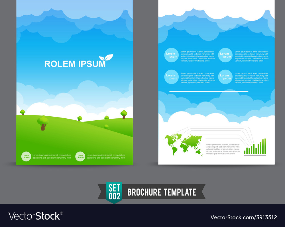 flyer brochure background template 0002 royalty free vector